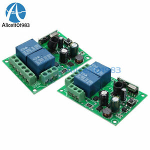 433MHz 2CH Channel Wireless RF Remote Control Switch Relay Receiver 10A 220V