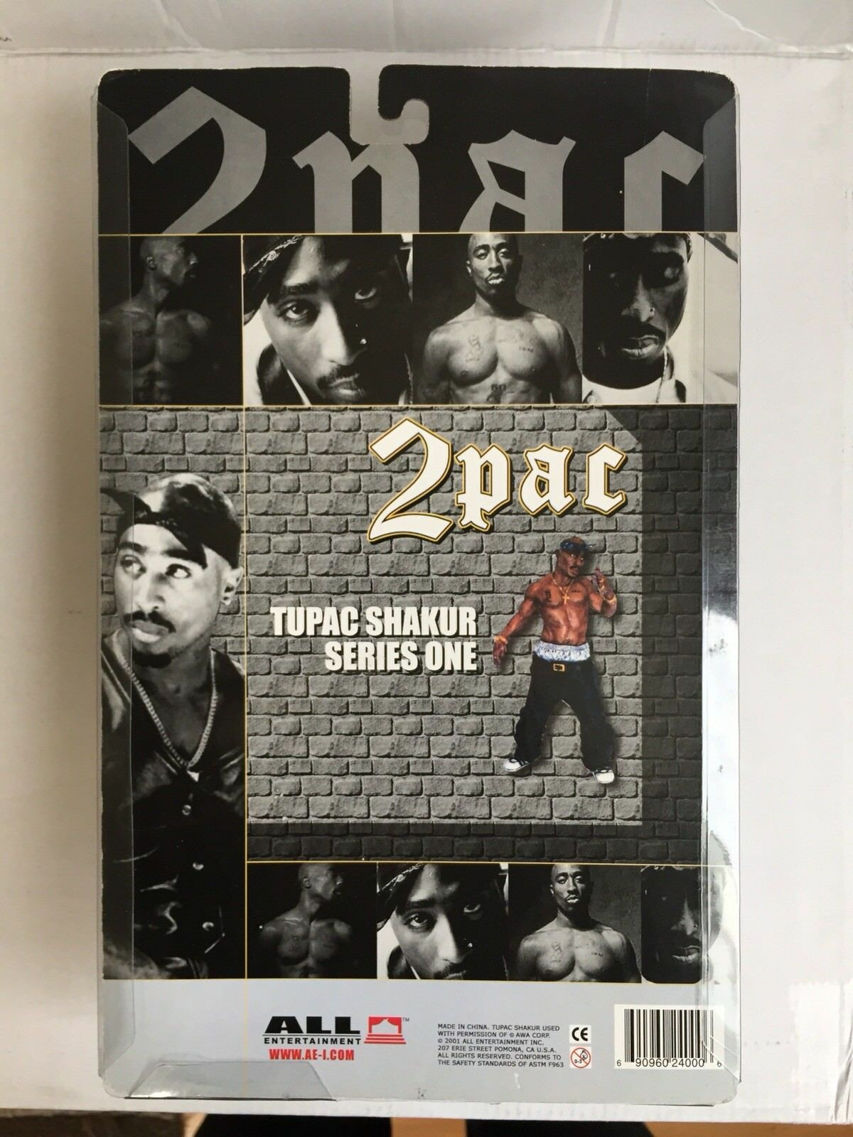 TUPAC SHAKUR ACTION FIGURE DOLL,  RARE 2001 2001 2001 ALL ENTERTAINMENT 2PAC SERIES 1 5d8107