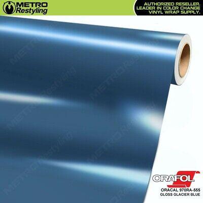 ORACAL 970RA Gloss Glacier Blue 555 Cast Film Vehicle Car Wrap Vinyl Sheet Roll