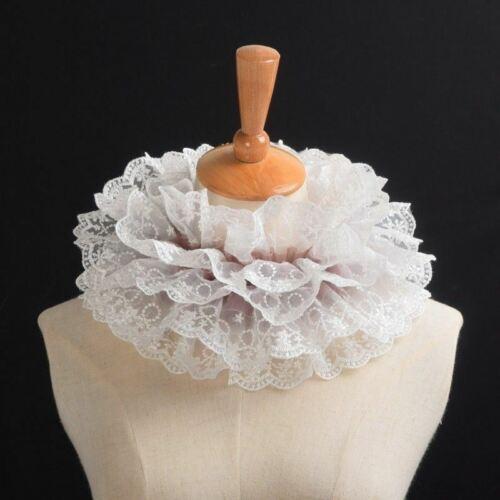 Victorian Lace Neck Ruffled Collar Detachable Collar Steampunk Gothic