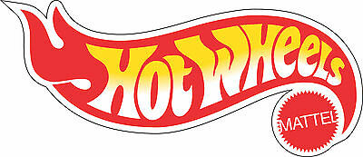 "9/"" Hot Wheels Car Stickers Decal Art Vinyl Wall Sticker Lot of 2"