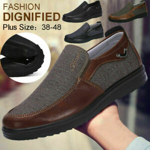 Men-039-s-Casual-Leather-Driving-Shoes-Breathable-Antiskid-Slip-On-Loafers-Moccasins