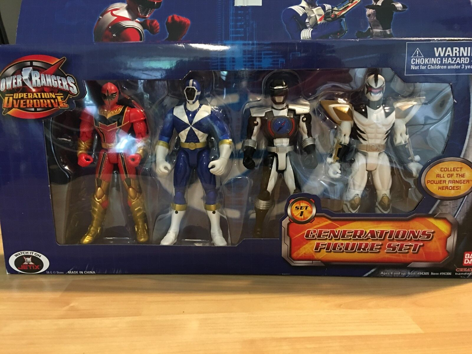 New In Box Power Ranger Operation Overdrive Generation figure Set 1