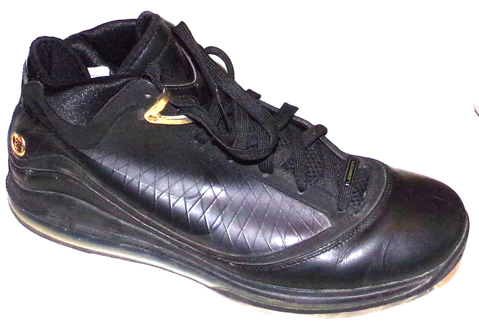 NIKE LEBRON JAMES VII ( 7 ) DUNKMAN ALLSTAR BASKETBALL SHOES IN BLACK SIZE-14