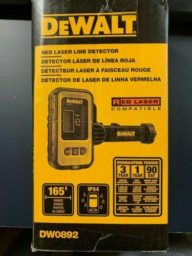 NEW DEWALT DW0892 Digital Laser Line Detector with Detector Clamp RED LASER