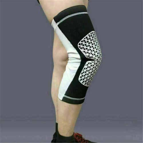 Football pad Running Sports Leg Calf Support Stretch Compression Socks Sleeve *