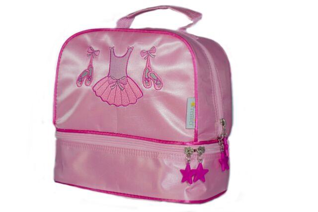 BN Girls Pink satin ballet dance shoe bag by Katz Dancewear HB-8A20