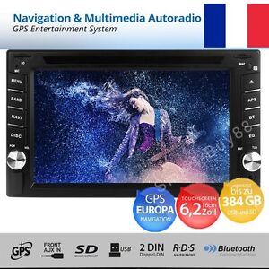 "6.2"" 2 DIN Autoradio Bluetooth Car Stereo GPS Navi DVD CD FM Radio MP5 Player"