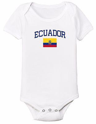 Ecuador Bodysuit Soccer Baby Outfit Mameluco Infant Girls Boys T-shirt Kid