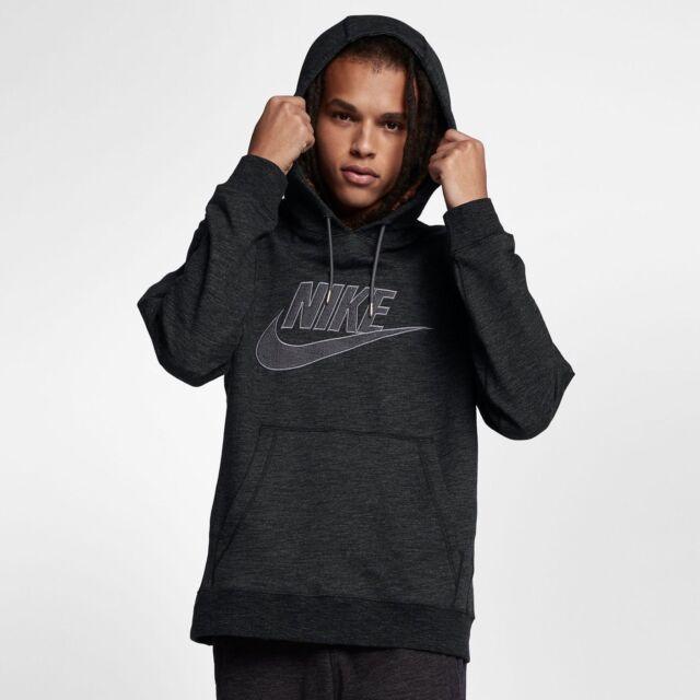 af00b7bb8002 NEW Mens Nike Sportswear Legacy Pullover Hoodie Black Heather Medium 863668  032