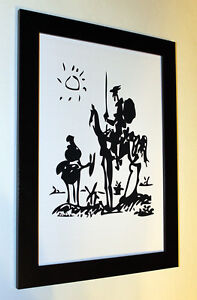 Pablo-Picasso-034-don-Quixote-034-print-art-paper-framed-reproduction-6-8X8-8-poster