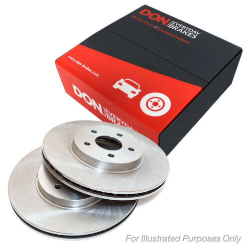 Matching OE Quality DON Front Vented Brake Discs Set Pair