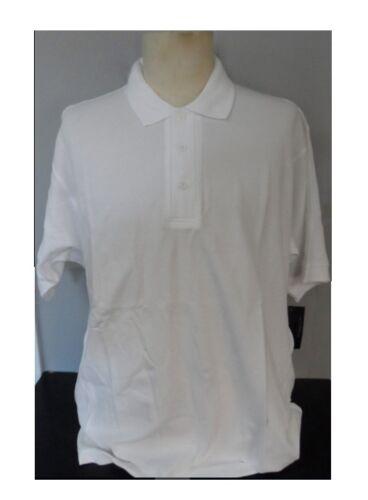UltraClub Men/'s Egyptian Pima Short Sleeve Polo Shirt White Size XL