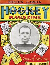 1933-34 Boston Bruins-Rangers Program Rangers Edge B's GEM!!