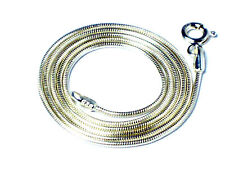 """20"""" (51 cm)  Sterling  Silver  925  Snake chain  NECKLACE  -  1.2 mm"""