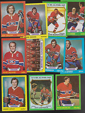 1973 / 74  Topps Team Lot of 11 Montreal CANADIENS NM LAFLEUR RICHARD MAHOVLICH