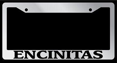 Black License Plate Frame Encinitas City State Auto Accessory 1242