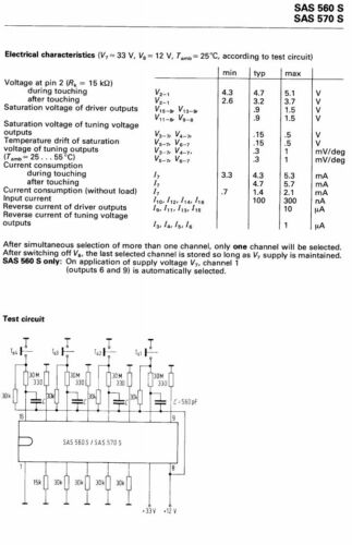 SAS560S Senser for Electronic Tuning SAS560 1 pcs