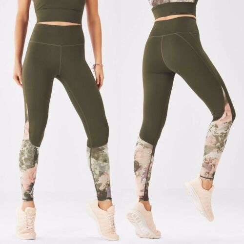 Fabletics High Waisted Mesh PowerHold Leggings Ol… - image 1