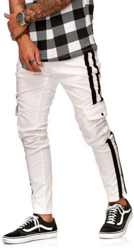 Nuevo Senores Cargo Jeans Slim Fit Denim Rayas Jeans Hose 1801 Pantalones Talla 30 38 Control Ar Com Ar
