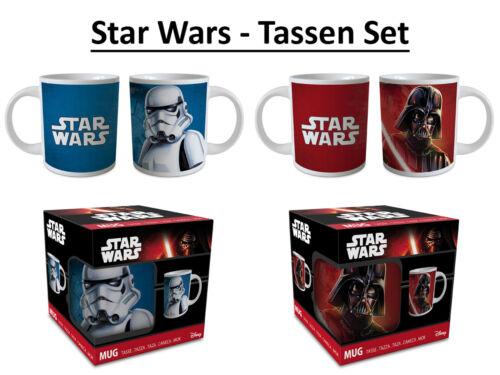 Größe Ø 7 H 8 cm Star Wars Tassen Set 2 Keramik Kinderbecher Frühstück
