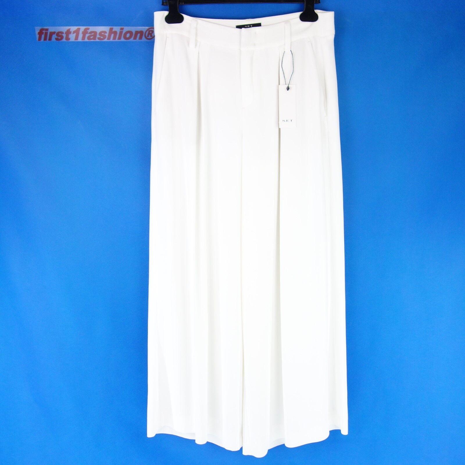 Set Women Pants 52449 36 38 Marlene White Wide Leg Cloth Trousers Summer Np
