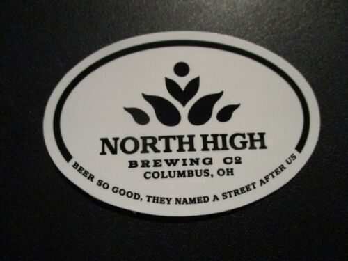 NORTH HIGH BREWING Stardust Columbus Ohio STICKER decal craft beer brewery