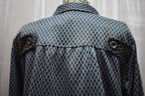 le grigio Giacca etichette large con da Naked X Nuovissimo blac donna taglia 5wq41BTnx6