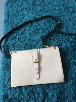 RIVER ISLAND cream leather handbag