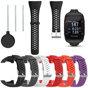 Sport-Silikon-Armband-Wristband-Werkzeuge-fuer-Polar-m400-m430-GPS-Watch