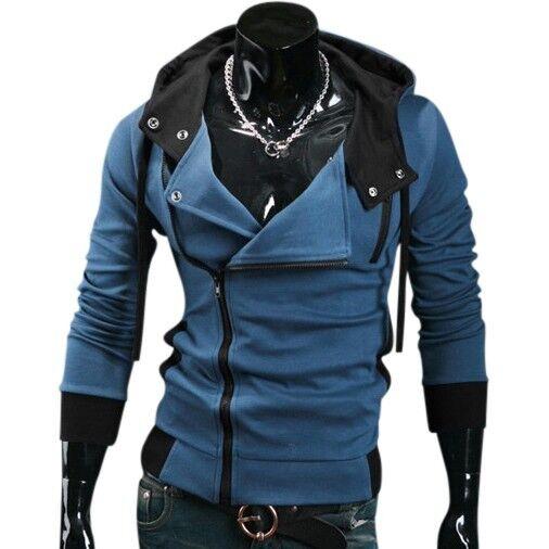 Jeansian Mens Sport Hoodies Zip Jacket Coat Shirt Slim 6 Color US XS S M L 8945