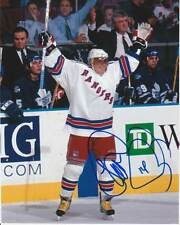 THEOREN FLEURY SIGNED NEW YORK NY RANGERS 8x10 PHOTO! THEO Autograph