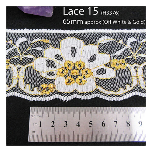 5 METRES NON ELASTICATED and ELASTIC LACE TRIMMING *46 STYLES* HABERDASHERY TRIM