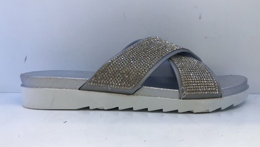 Truffle Collection Ladies Silver Sliders Uk 8
