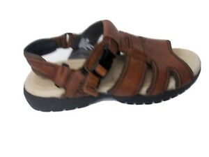 Earth-Shoes-Brown-Leather-Mens-Shoes-sandals-Adesase-Size-10-5-pre-owned