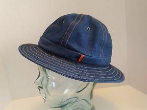 VTG LEVIS Orange Tab Denim Bucket Hat Size Medium 1970s 70s Jean ... d66a3ffd546