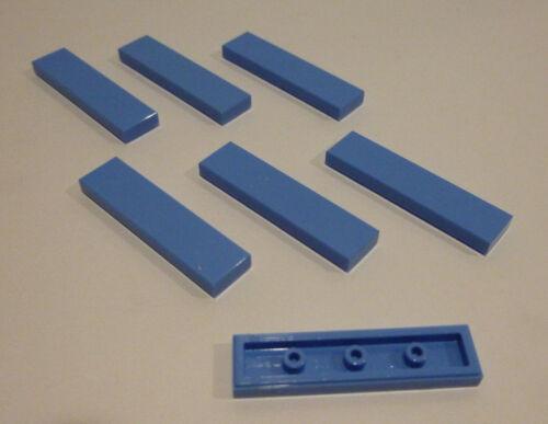 7 x LEGO® 2431 Friends Fliese,Platte 1x4 hellblau Neuware.
