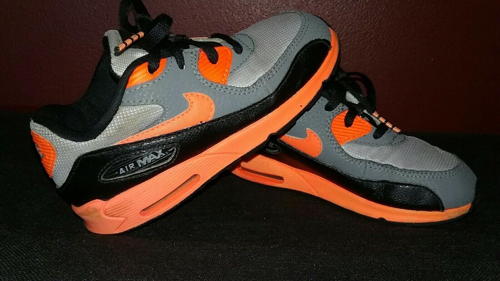 Nike Air Max 90 TD Toddler Shoes Sneakers 408110-036 Gray//Orange sz 4C 6C 8C