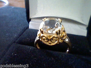 14K-GOLD-amp-SS-3-00CT-DIAMOND-TOPAZ-ENGAGEMENT-BAND-RING-SZ-7-GIFT-IF-REG