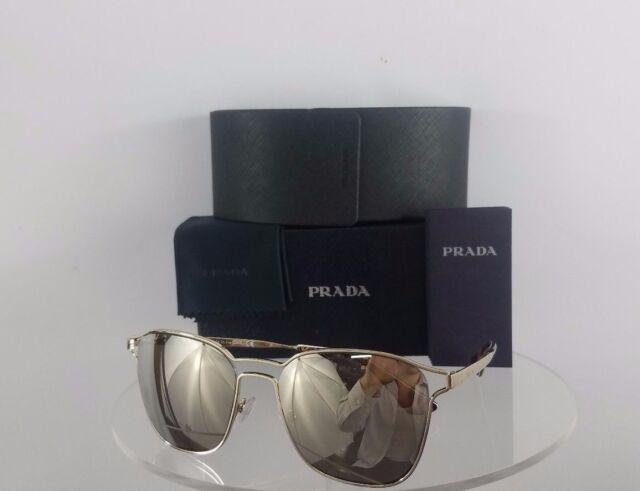23ff7d559e0f2 Brand New Authentic Prada Sunglasses SPR 54T ZVN-1C0 Gold Frame 55mm 54T