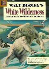 FOUR COLOR #943 Very Good, White Wilderness True-Life Adventure Dell Comics 1958