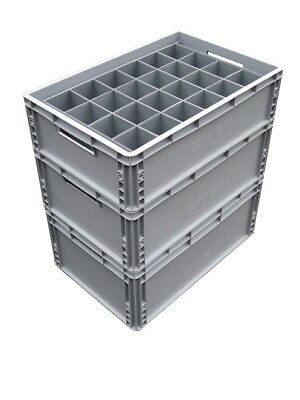 Glass Storage Crate Containers For Champagne Flutes Wine Glasses Etc Ebay