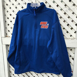 606ac1287f6 NWT Boise State 1 4 Zip Poly Fleece Pullover Men s Large Badger ...