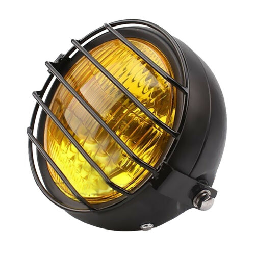 Moto Phare Lampe Principale Rétro Couvercle Grillé pour GN125 CG125 Jaune