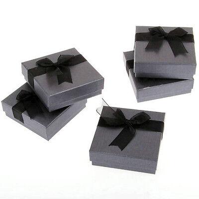 """5 Black Bracelet Bangle Watch Gift Box Case 3.5x1.3"""" FASHION"""