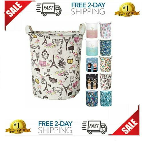 Linen Dirty Clothes Basket 19.7/&rsquo/&rsquo Waterproof Foldable Laundry Hamper