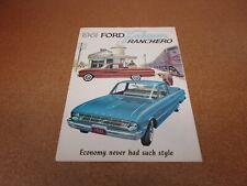 1961 Ford Thunderbird Original Dealer Sales Brochure