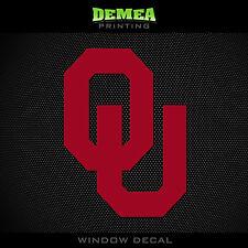 "University of Oklahoma - Sooners - OU - NCAA - Red Vinyl Sticker Decal 5"""