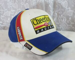 Nascar-Bobby-LaBonte-43-Cheerios-Racing-Baseball-Cap-Hat-Adjustable-Tape-EUC