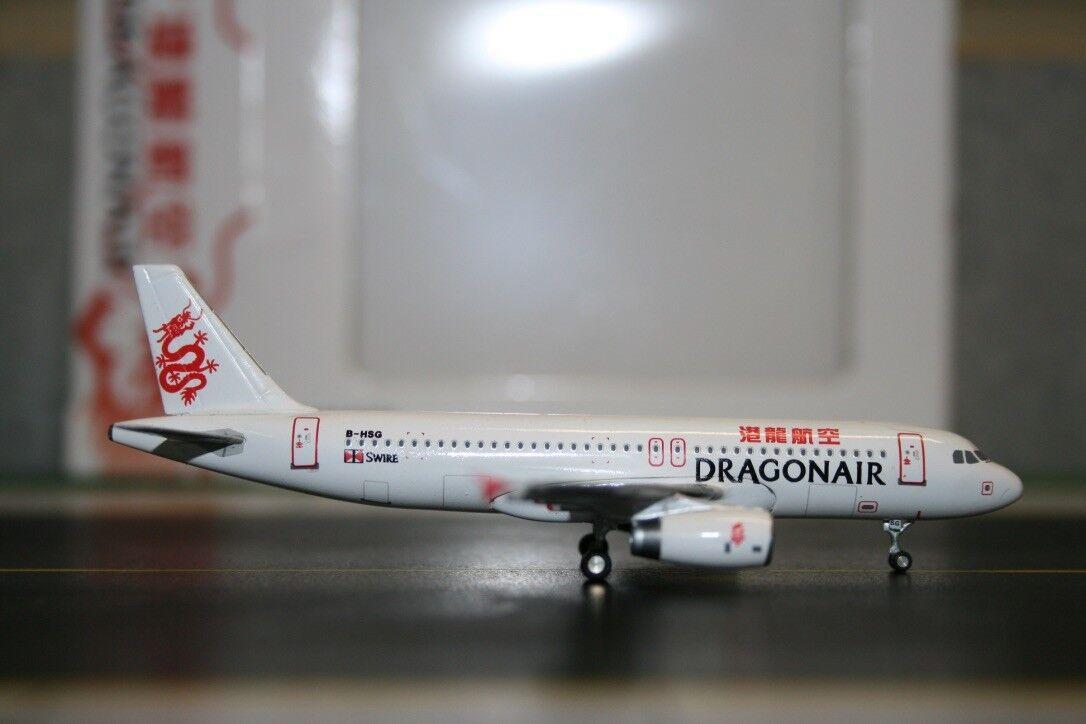 JC Wings 1 400 Dragonair Airbuss A320-200 B-HSG (XX4816) modelllplan för tärning
